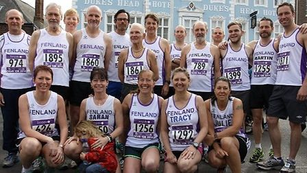 Fenland Running Club members at the Great East Anglia Run in King's Lynn.