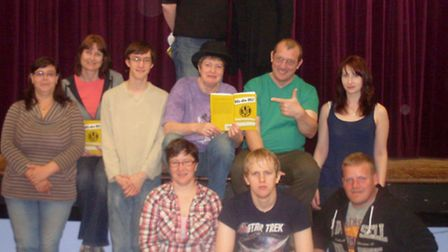 Cast members rehearsing for the Anglian Players' production of Hi-de-Hi!