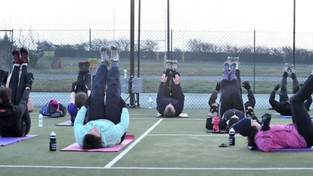 Body Shape Fitness Camp. Picture: Steve Williams.