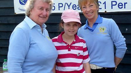 Left to right Maureen Mansfield, junior organiser, with Eleanor Gamble and county president Mo Poole