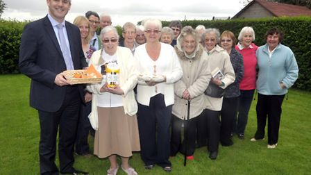 Steve Barclay MP attending a charity coffee morning for MS at Tydd St Giles.