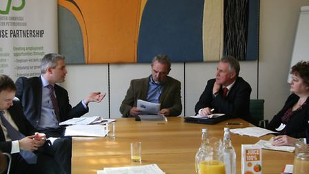 MP Steve Barclay at a Greater Cambridge Greater Peterborough Enterprise Partnership (LEP) briefing e