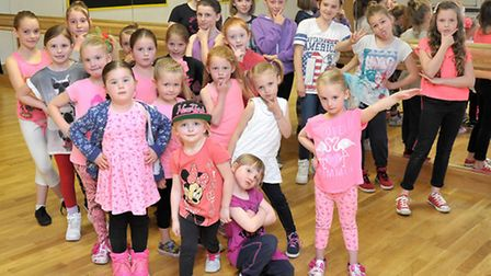 Dance teacher Brittany Read with her pupils at the Thomas Clarkson dance studios, Wisbech. Picture: