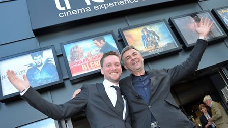 Rotary Gala night and opening of the Light Cinema, Wisbech. Head of operations Phil Dove with the Di