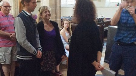 Wisbech Amateur Operatic & Dramatic Society preparing for The Vicar of Dibley.