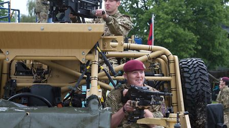 Divisions of the Airborne Forces show their equipment and capability to visitors at The D-Day Annive