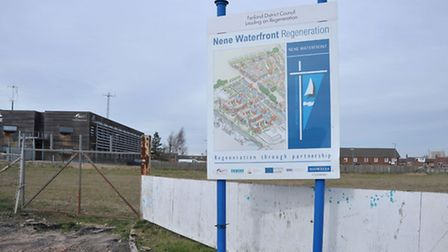 Wisbech Nene Waterfront sign. Picture: Steve Williams.