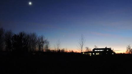 The visitor centre at night. Picture: DAVID WHITE