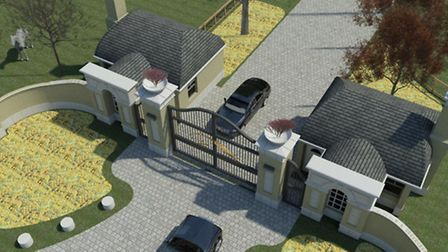 Designers show off an aerial perspective Chippenham Stud entrance