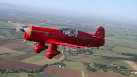 David Beales replica Mew Gull shown above on its maiden flight in 2013 has been hailed as a remark