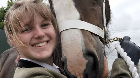 Gorefield Show. Horse Maisy May with Stephanie George.