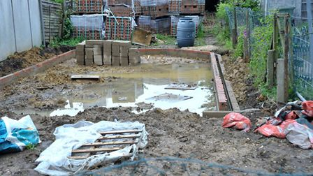 Building site in Acacia Grove, March. Picture: Steve Williams.