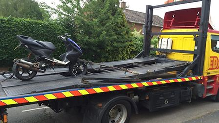 A Moped was seized in Chatteris.