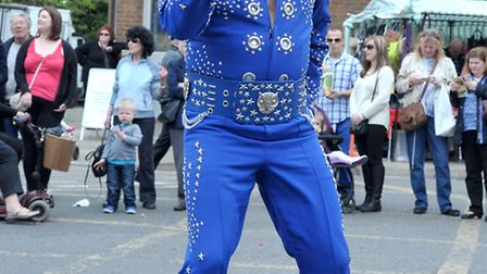 St George's Fayre, March. Gary Jay (Elvis Impersonator) entertaining the crowds.Picture: Steve Willi