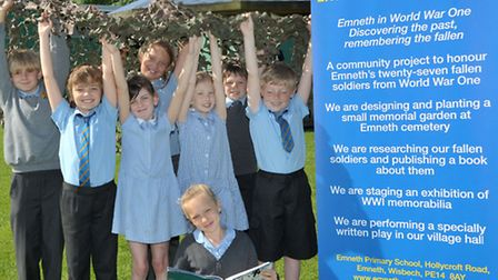 Emneth Primary School receives £9,600 from Heritage Lottery Fund for First World War events. Picture