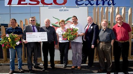Duncan Jeffries, Customer Services Manager and Len Smith, Lead Manager, from new Wisbech Tesco stor