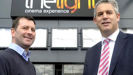 Steve Barclay MP visiting the new cinema the light on the Cromwell Rd Retail Park in Wisbech. With A