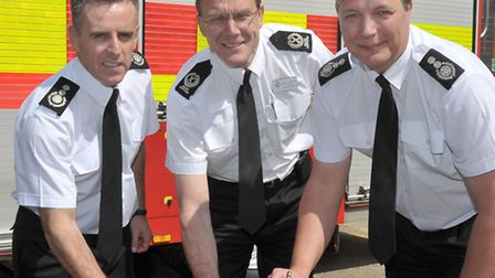 Signing of Prince's Trust Fenland Team programme at Wisbech Fire Station. Left: Graham Stagg Cambrid