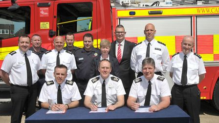 Signing of Prince's Trust Fenland Team programme at Wisbech Fire Station. Picture: Steve Williams.