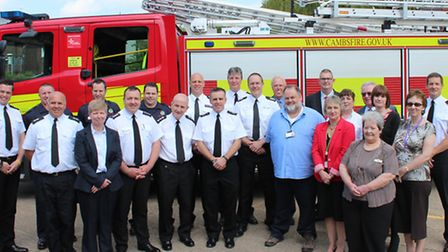 Signing of Prince's Trust Fenland Team programme Wisbech Fire Station.