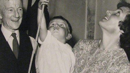 Hilary Rose, 77, wasted no time in introducing her son Richard to bell-ringing