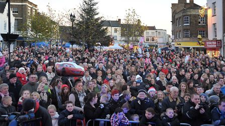 Wisbech Christmas Lights Switch on 2013. Picture: Steve Williams.