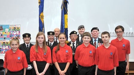 Royal British Legion's Chatteris branch Standards will now be looked after by Cromwell college libra