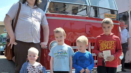 Whittlesey Classic Bus show. The Wilson family at the Bus Show. Picture: Steve Williams.
