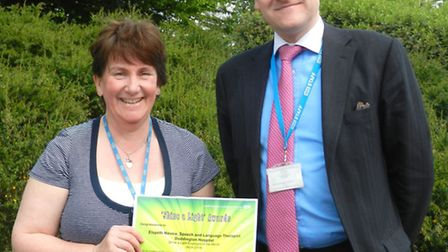 Elspeth Novice, a speech and language therapist based at Doddington Hospital, has been recognised fo