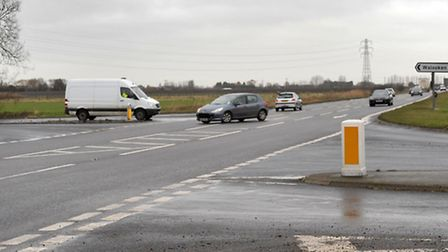 Staggered Junction A47 to Walsoken and Emneth. Picture: Steve Williams.