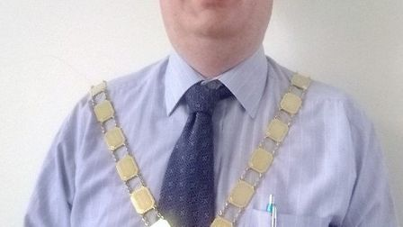 Cllr James Carney is the new mayor of Chatteris.