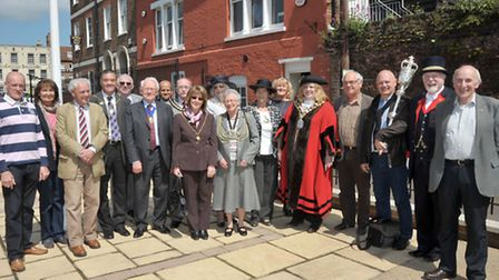 Wisbech Arts Festival opens today with a walk around Wisbech with town mayors from far and wide. Oc