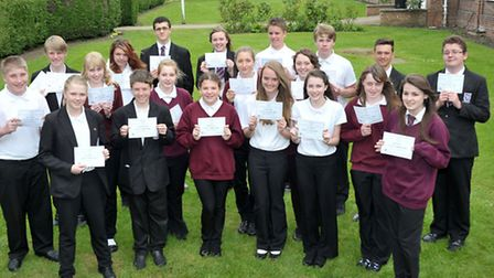 Cromwell Community College, Chatteris. Years 9-11 students who took part in the European Maths Chall