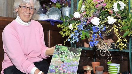 St Peters church Flower show. Upwell. Barbara Ashworth.. Picture: Steve Williams.