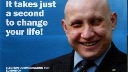 Election leaflet for when Andrew Charalambous stood for the Conservatives