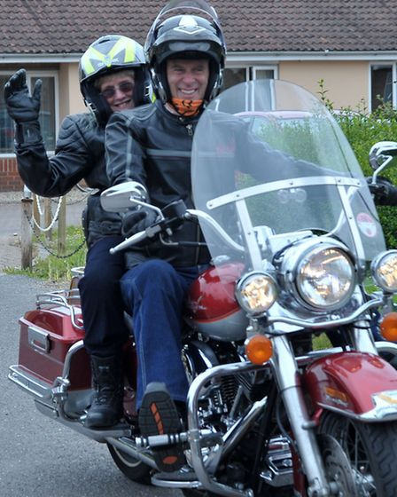 Witchford author Dr Rosemary Westwell came to Heron House on a Harley Davidson. She arrived in style