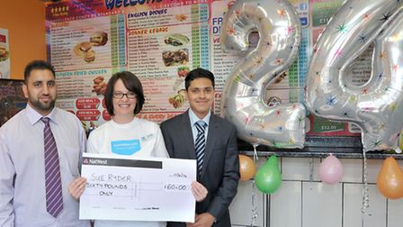 Open day and cheque presentation at Eastern Promise, March.Eastern Promise, in March, Held an birthd