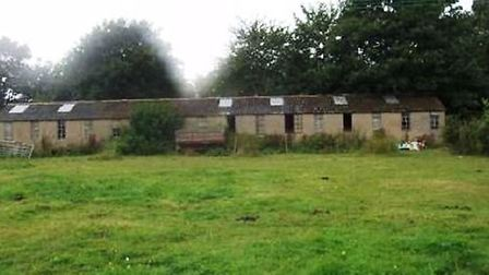 Executive housing: Existing buildings which will be cleared to make way for executive homes at Wimbl