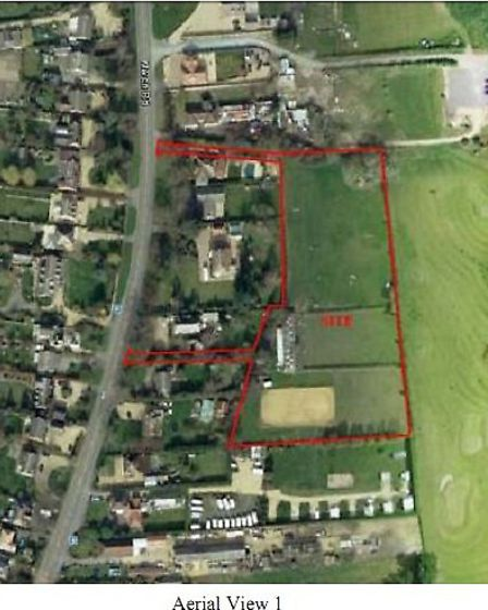 Executive housing: Aerial view of the proposed site in March Road, Wimblington