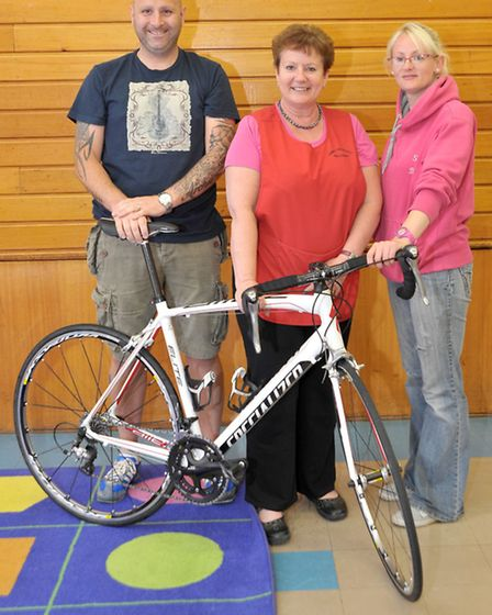 Charity cycle and scaling Nevis. Left: Scott Summers, Sandra Burlingham and Sam Rose. Picture: Steve