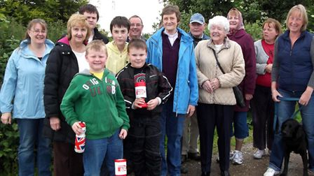 The Rev Jenny Webb, centre, with fund-raisers on a previous walk.
