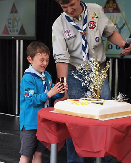Cub, beavers and scouts marked 100 years of scouting in Cambridgeshire on Saturday
