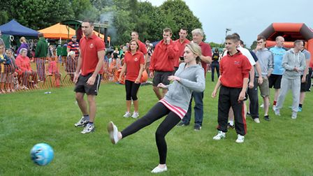 Wisbech St Mary Country Fayre. It's a Knockout Competition. Picture: Steve Williams.