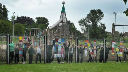 Play Makers project at Wisbech playground. Picture: Steve Williams.