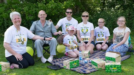 Ellie and Ray Arnold with son Paul, his wife, Laura, and daughters Hollie, Josie and Beth
