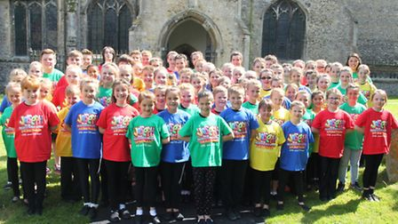 The cast of Joseph and the Amazing Technicolour Dreamcoat