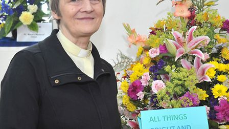 St Marys Flower show Westry, March. Reverened Jenny Webb. Picture: Steve Williams