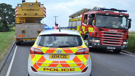 Lorry Fire, A47 Guyhirn. Picture: Steve Williams.