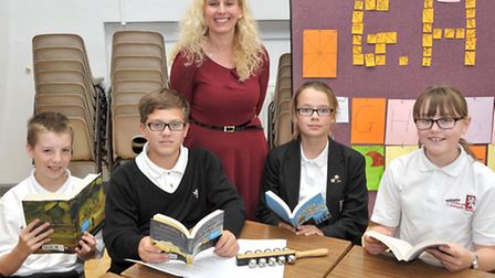 Carnegie Award Day.Cromwell Community College, Chatteris. Michelle Priest with Cromwell team.Picture