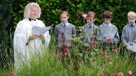 The dedication of two memorial flower beds in Emneth. Picture: Ian Burt